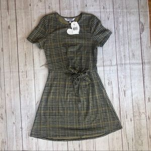 Lots of Love Speechless short sleeve dress plaid